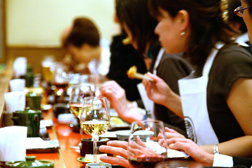 Tenichi, Ginza, Tokyo - Diners at Tehichi