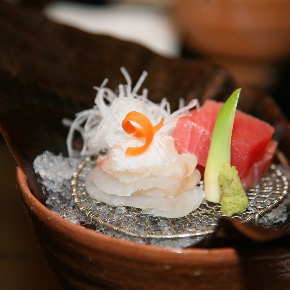 Takamura, Tokyo - Fluke and Tuna sashimi
