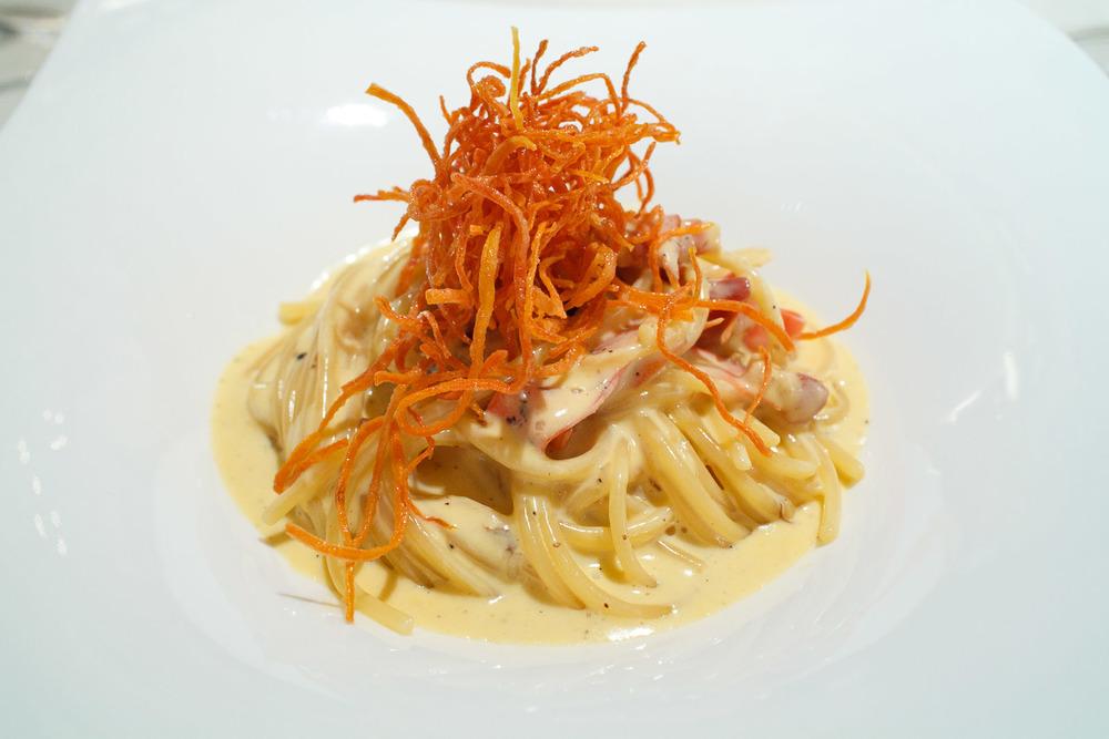 La Veduta, Osaka, Japan - Spaghetti alla carbonara al profumo di carota