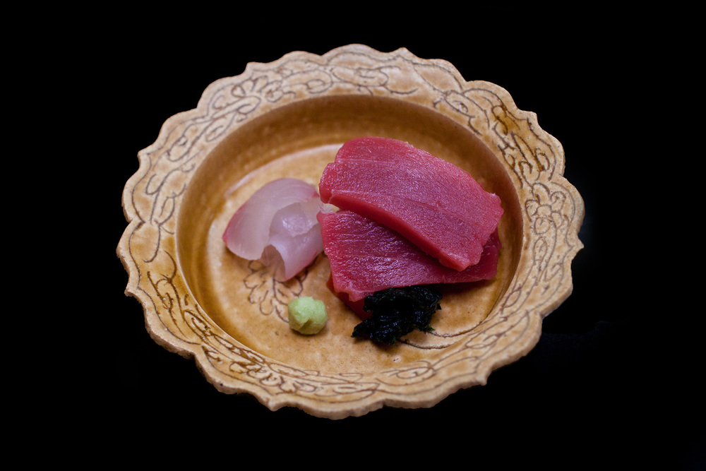 Chihana, Kyoto, Japan - Hirame and Chuo Toro with Dried Kelp
