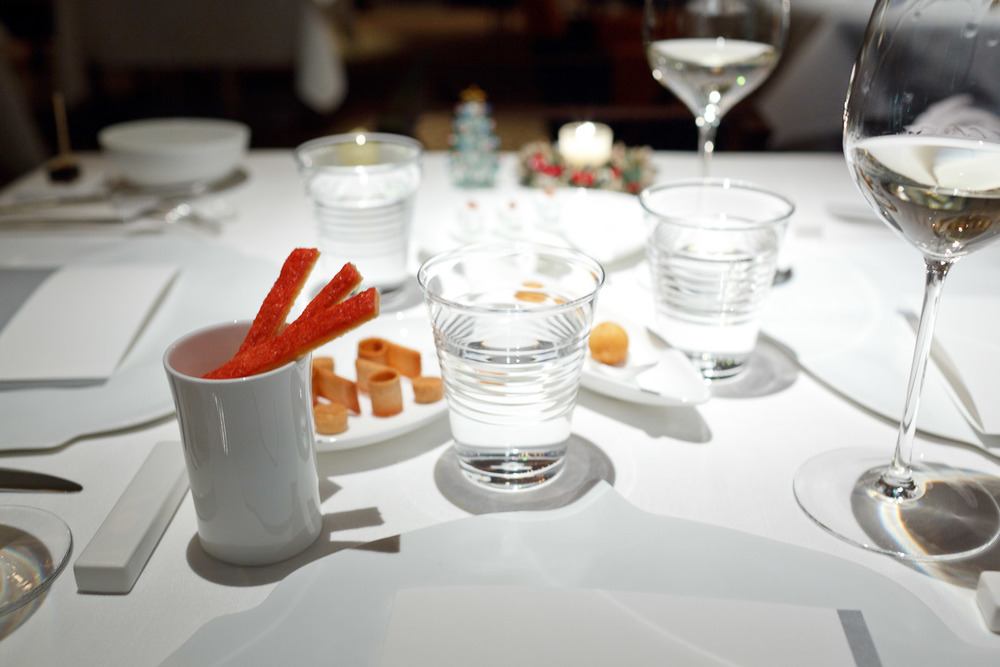 Pierre Gagnaire, Tokyo - Amuses Bouches and Wine