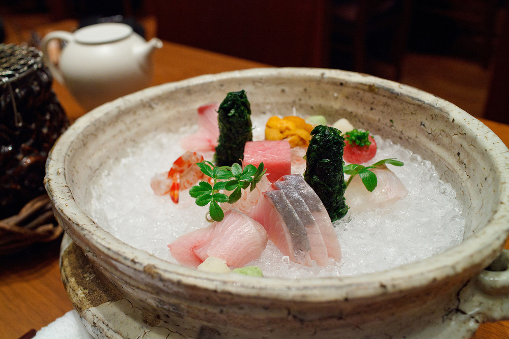 Kozue, Tokyo - Assorted sashimi