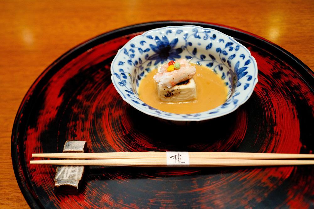 Kozue, Tokyo - Sesame flavoured tofu