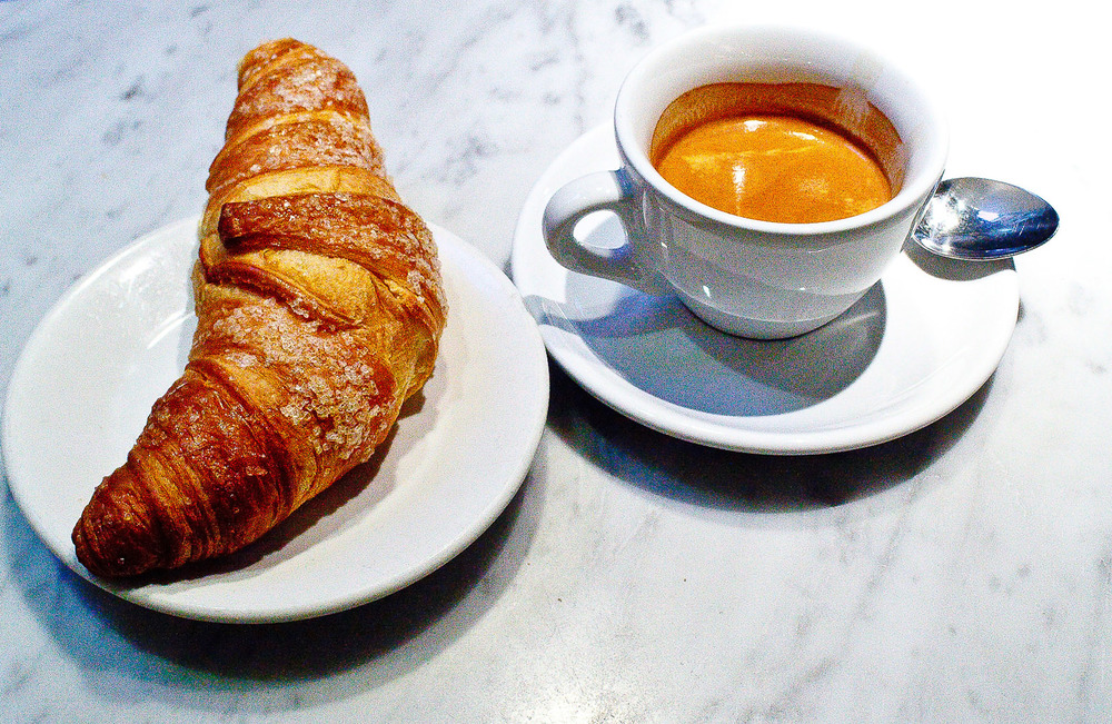 Espresso Sosta, Stockholm - Espresso and Croissant for Breakfast