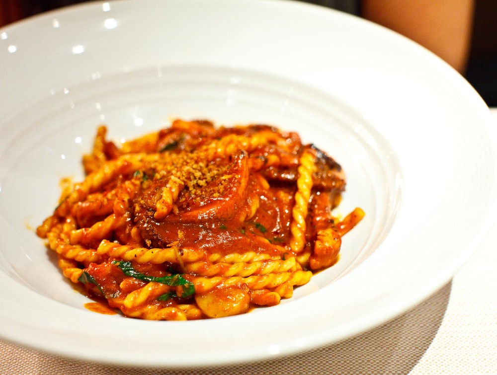 Marea - FUSILLI - red wine braised octopus, bone marrow