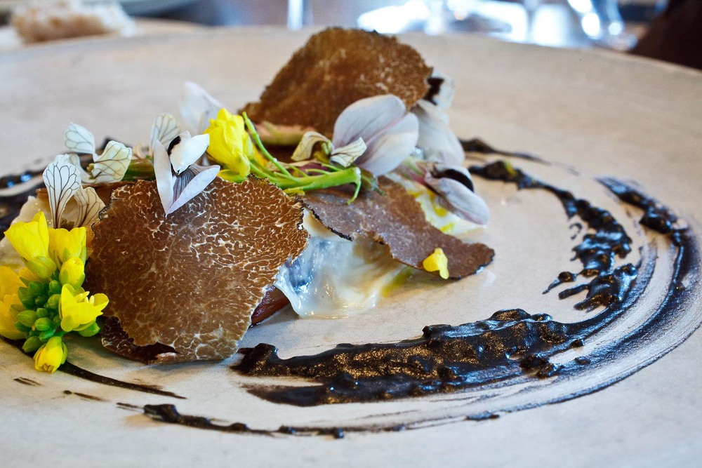 Noma - Salsify and milk skin; Truffle from Gotland
