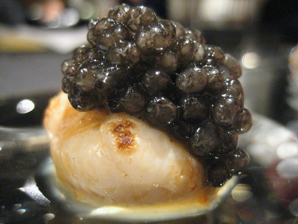 RyuGin - Scallop with Caviar