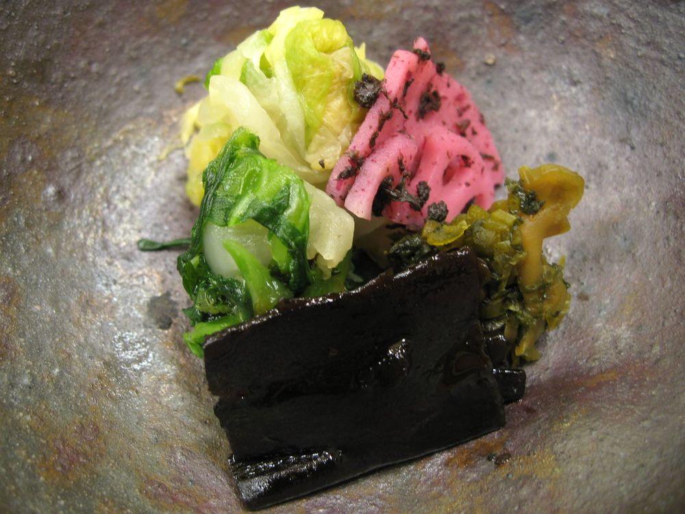 Five Different Kinds of Pickled Vegetables