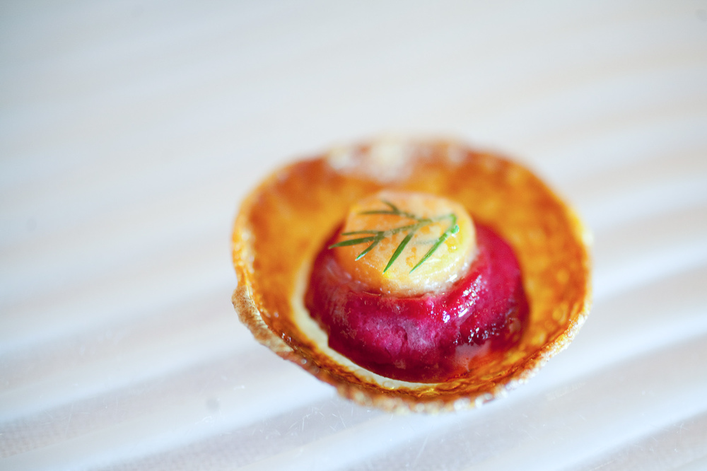 Tartelettes of beet