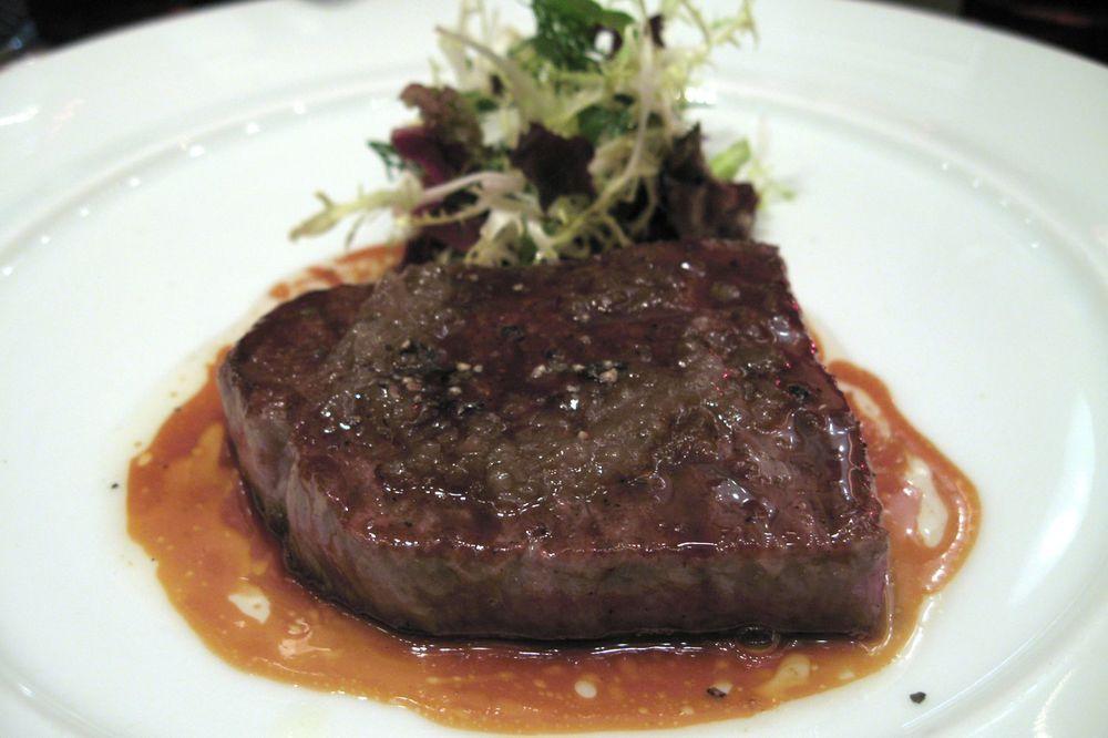 Le Kobe pôéle avec sa salade verte