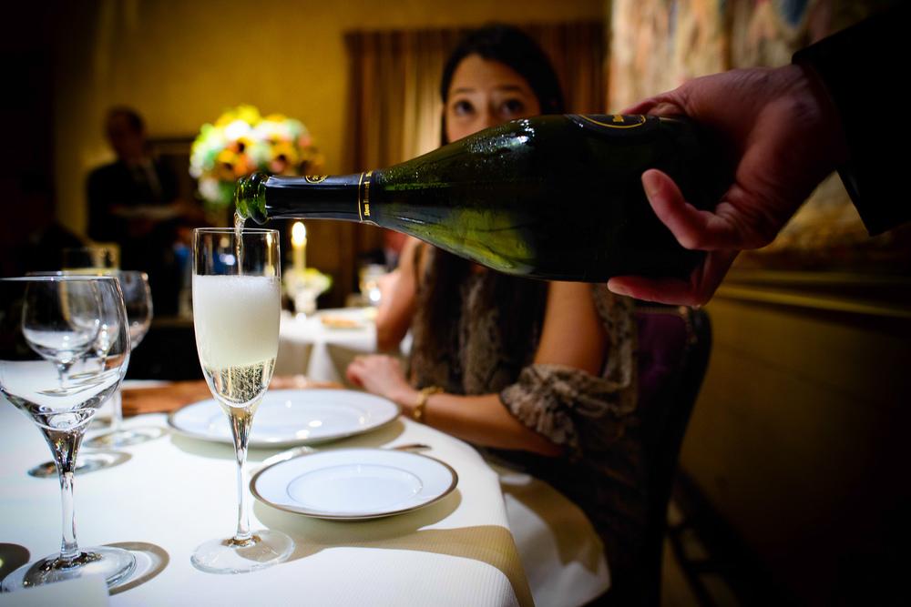 Des verres du champagne