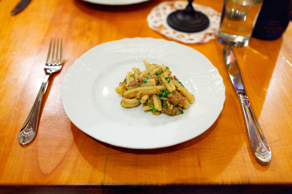 5th Course: Gemelli pasta, dirty duck ragu