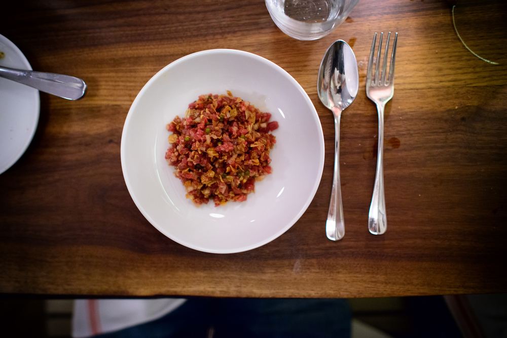 Beef tartare and sunchoke ($15)