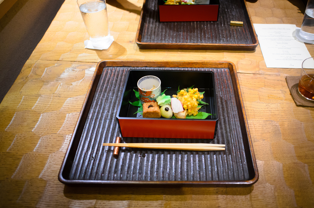 6th Course: Assortment of seasonal vegetables: awa-fu, daitokuji