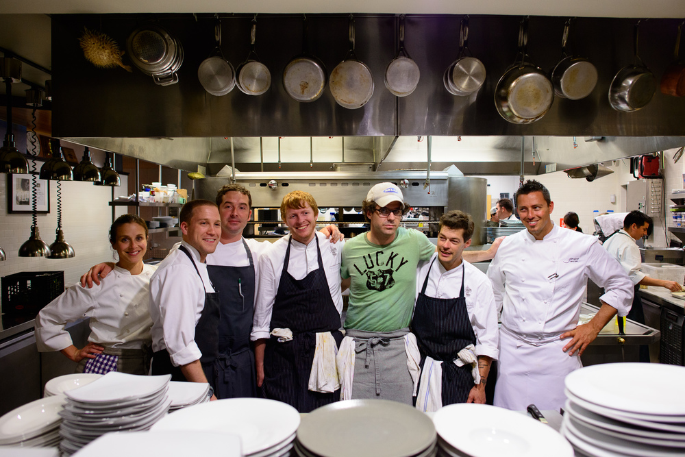 Chefs Karen and John Shields, Johnny Spero, Michael Ryan, Alex T