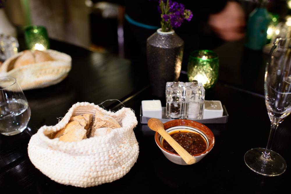 Beer bread, huitlacoche butter, salsa