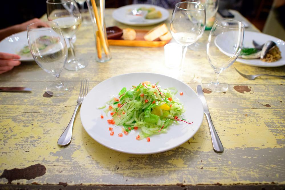 Ensalada de hinojo, cítricos y granada (Fennel bulb salad, citr