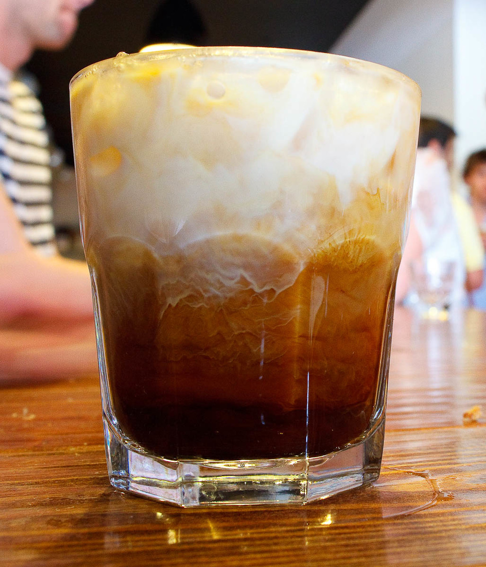 New Orleans Iced Coffee, unstirred milk