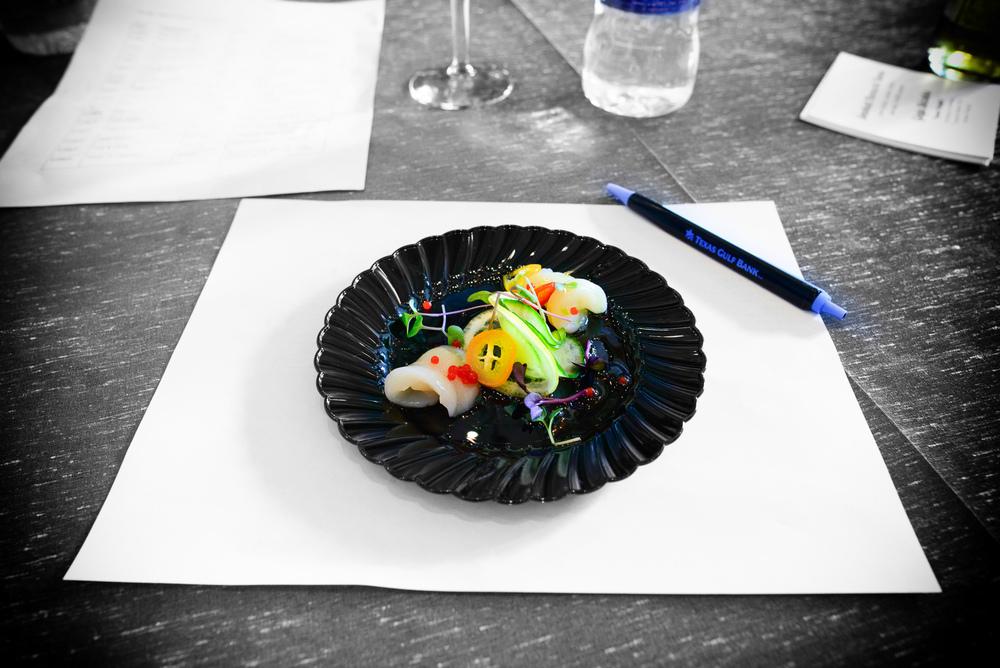 7th Contestant: Strait's - Hokkaido scallop carpaccio, chili cav
