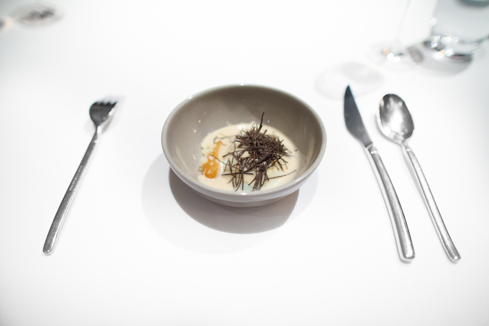 13th Course: Toasted bread and onion soup, truffle, egg and parm