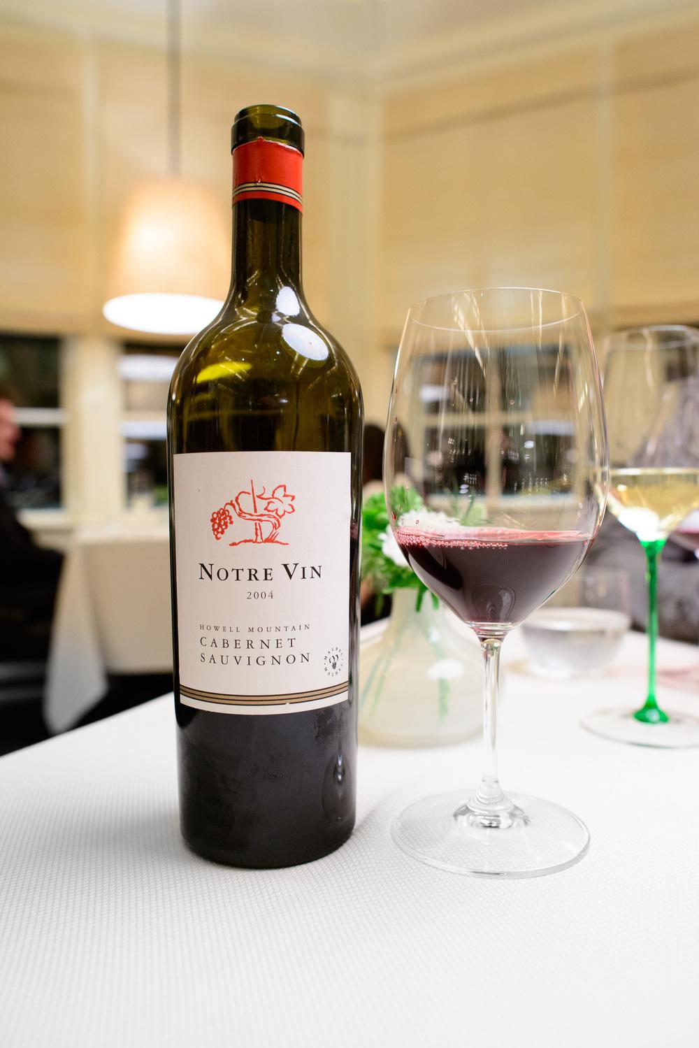 Notre Vin 2004, Cabernet Sauvignon