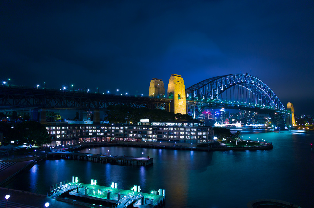 Sydney Harbour, at Night, 2013