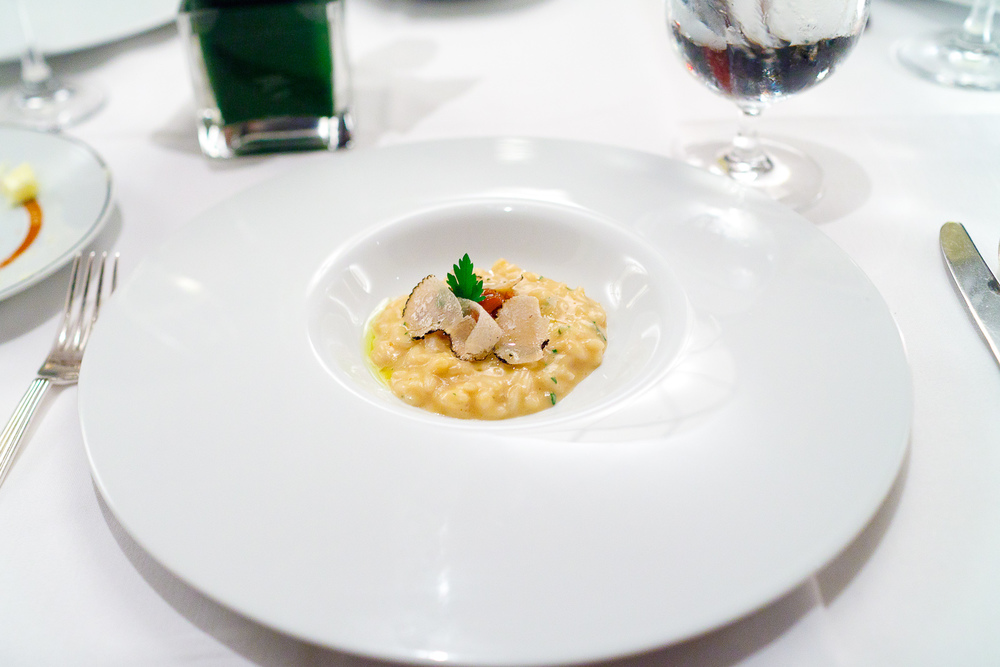 4th Course: Chanterelle risotto, summer truffle, olive oil