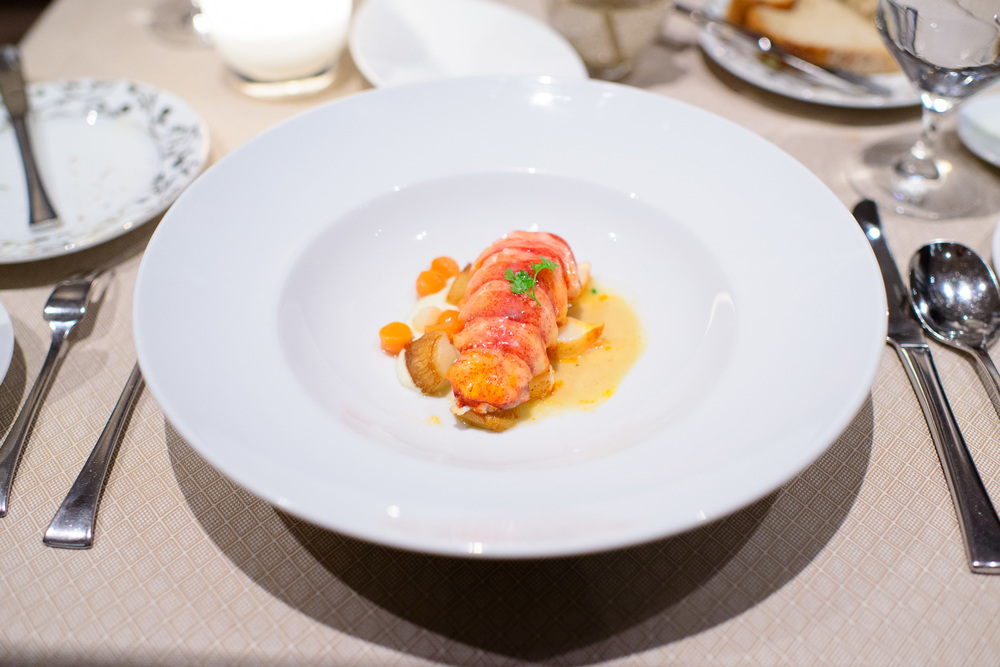 Astice - butter poached nova scotia lobster, glazed root vegetab
