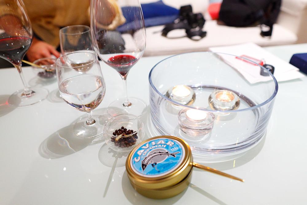 Petits fours: chocolate caviar
