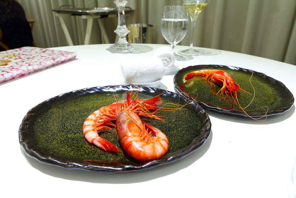 4th Course: Denia bay prawns