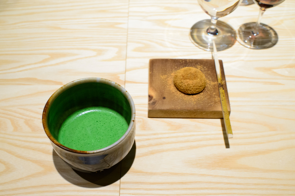 15th Course: Warabi kochi, toasted soy