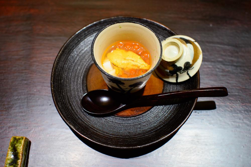 1st Course: Ikura, uni, nagaimo
