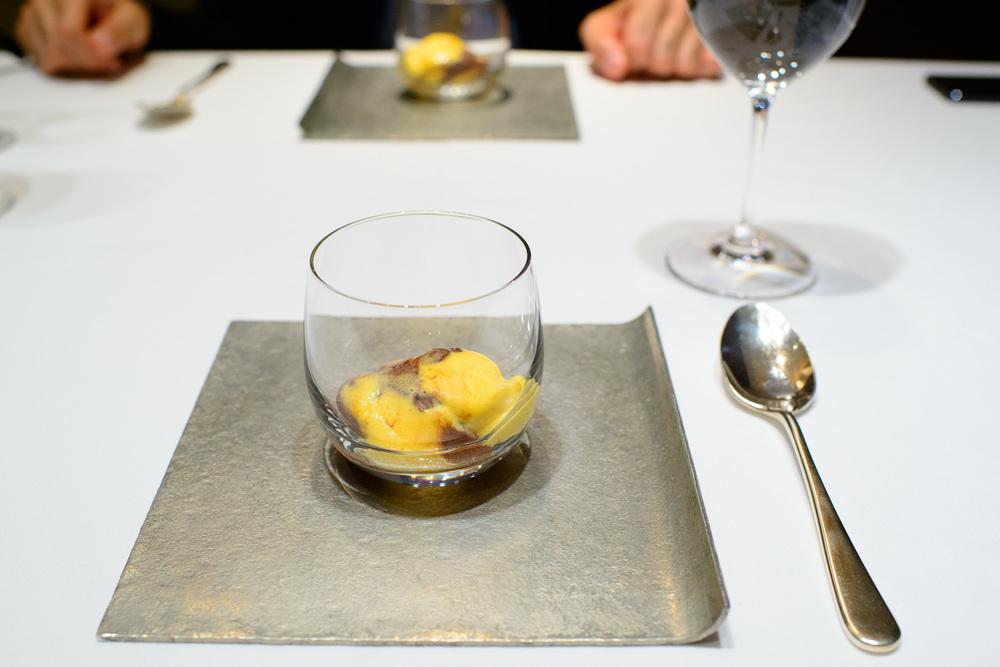 11th Course: Mousse au chocolat au vieux Ricard (Old Ricard flav