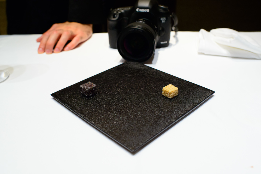 Petits Fours: Sesame chocolates