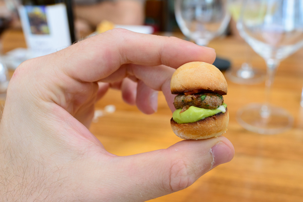 Amuse bouche: mini hamburger