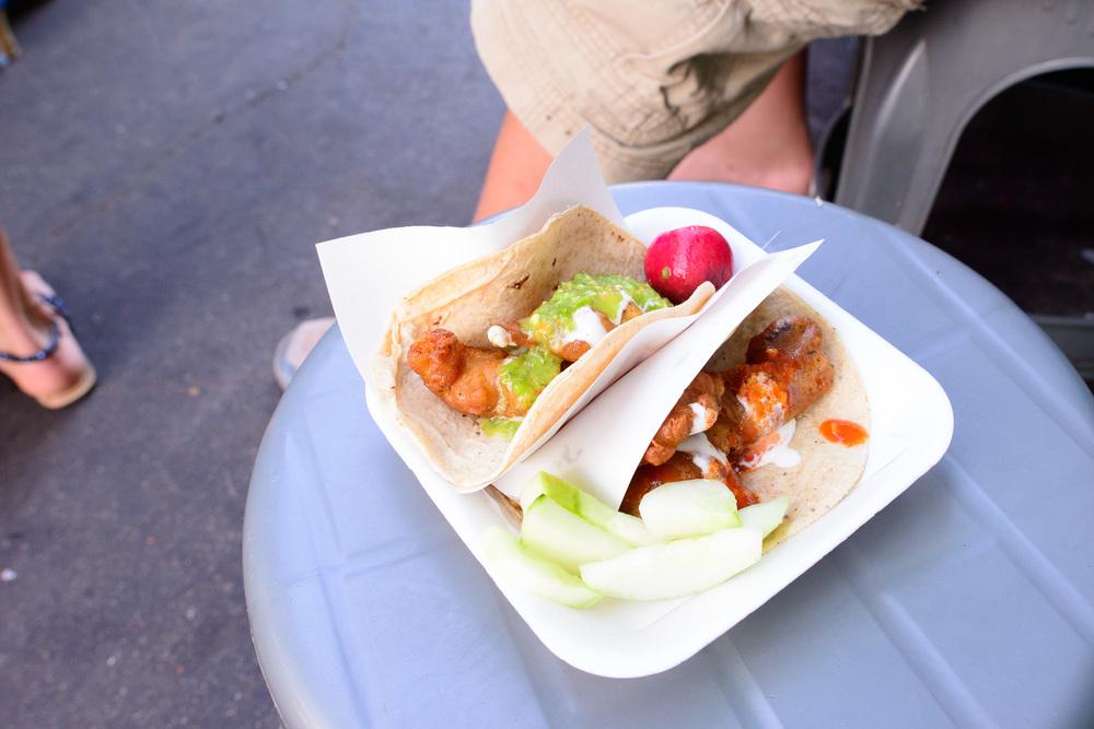 Fish tacos (tacos de cazón)