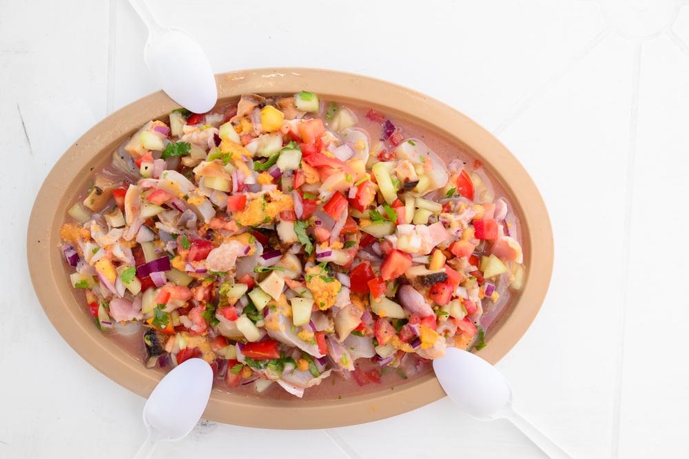 """Ceviche """"Bill Esparza"""" - sea urchin, almejas chocolatas y pismos"""