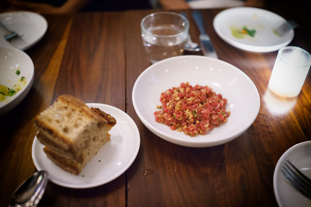 Beef tartare with sunchoke ($17)
