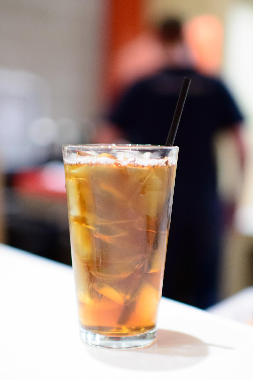 Iced Mugicha (Barley) tea ($4)