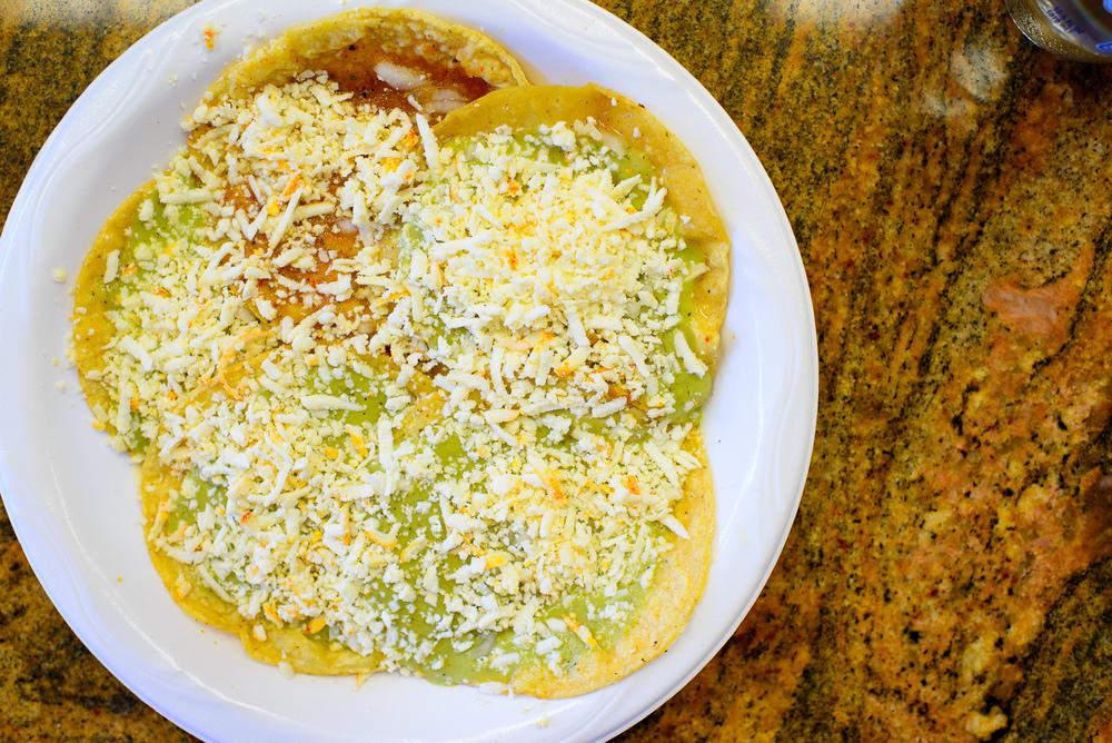 Chalupas típicas de Puebla