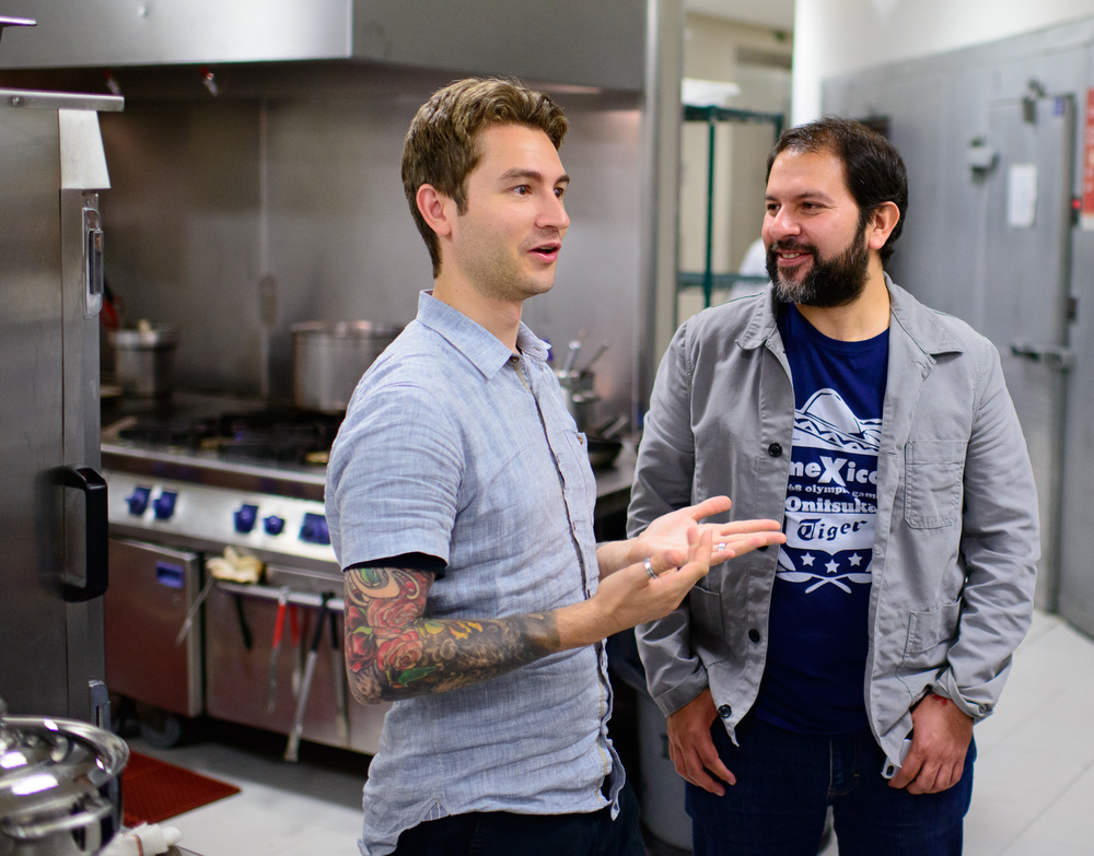 Chefs Alex Stupak and Enrique Olvera