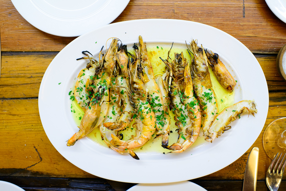 Camarones del Pacifico a la parilla (Pacific shrimp on the grill