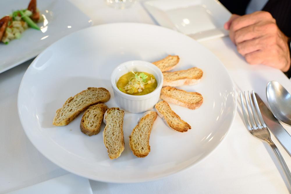 Purée de abulón (Abalone puree, carrots)