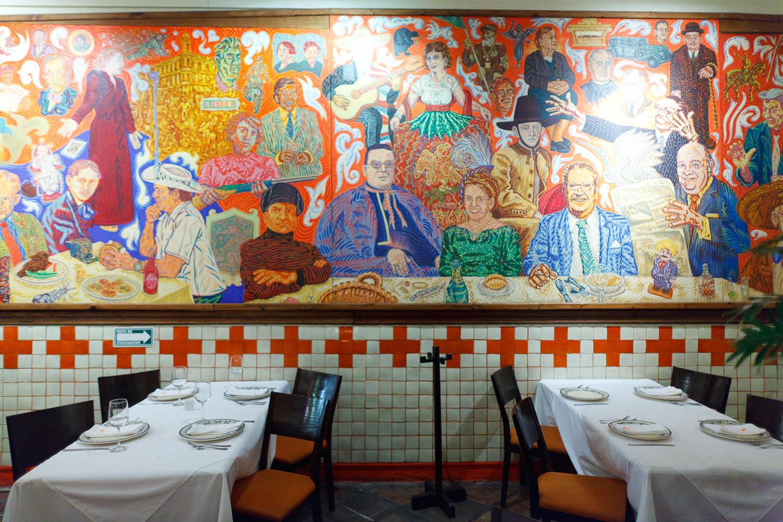 el mural de los poblanos obra de historia y color