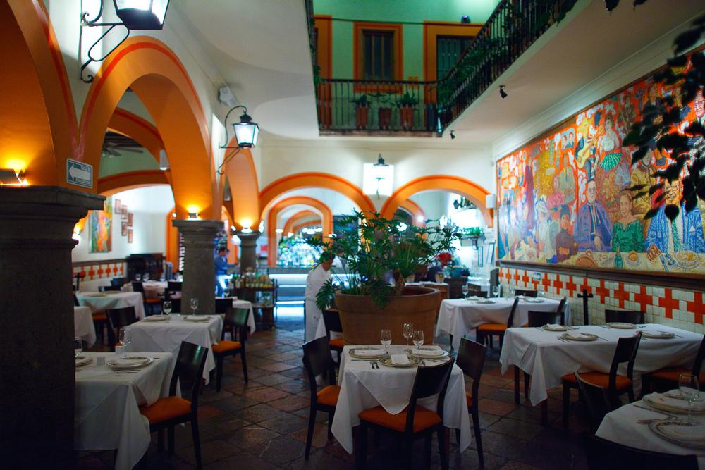 Interior of El Mural de los Poblanos