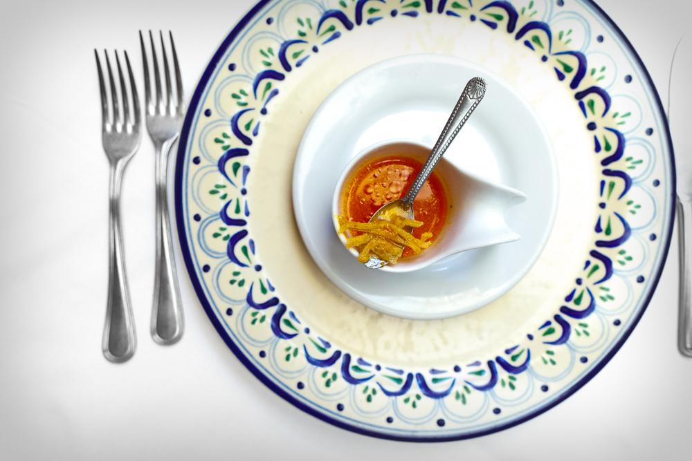 Amuse Bouche: Sopa de tortilla