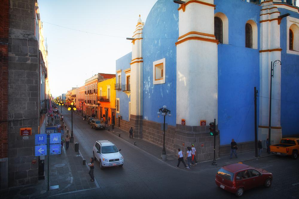 Sunset in Puebla, patrimonio de la humanidad