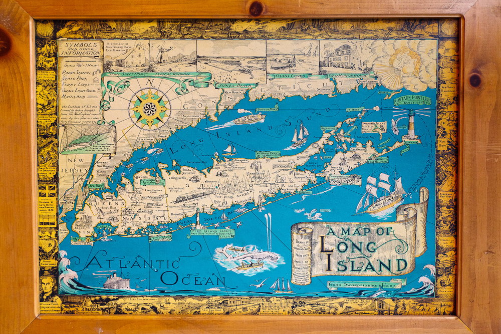 Fisherman's map of Long Island