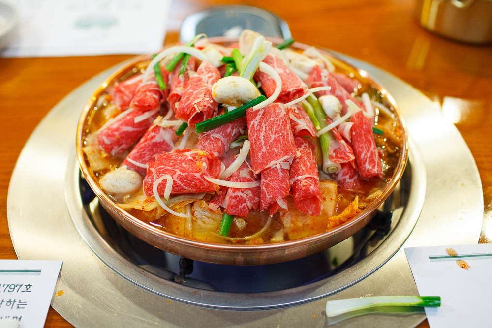 Halabuhji Kimchi Bulgogi - Thinly sliced boneless rib eye steak