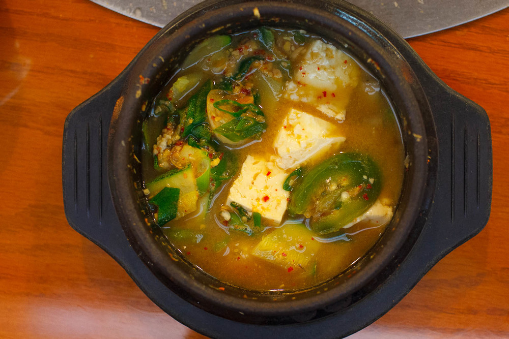 Soybean paste soup